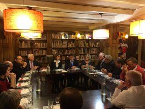 Philippe FOLLIOT et Nathalie KOSCIUSKO-MORIZET avec les élus locaux à la Bibliotèca