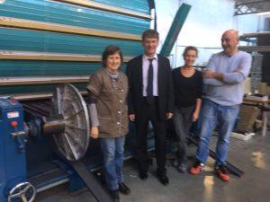 Philippe FOLLIOT lors de la visite de la SCOP Clarensson