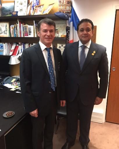 Philippe FOLLIOT rencontre le Président de la Commission des Droits de l'Homme au Parlement égyptien