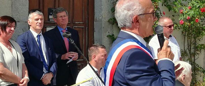 Inauguration de l'allée du château à Brassac en présence de Philippe FOLLIOT