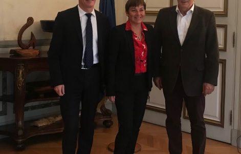 Petit-déjeuner de travail au Ministère des Outre-mer: Philippe FOLLIOT rencontre Madame la Ministre