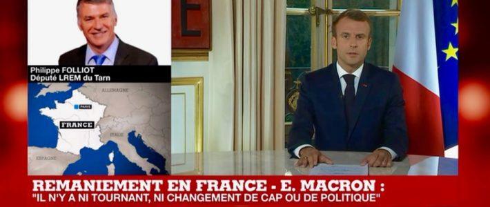 Philippe FOLLIOT intervient en direct sur France 24