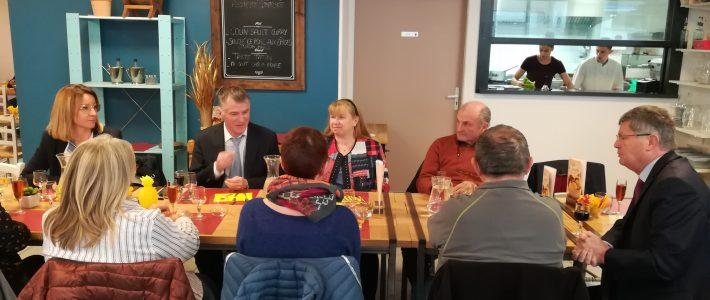 Déjeuner de travail avec les maires du canton de Valence d'Albigeois