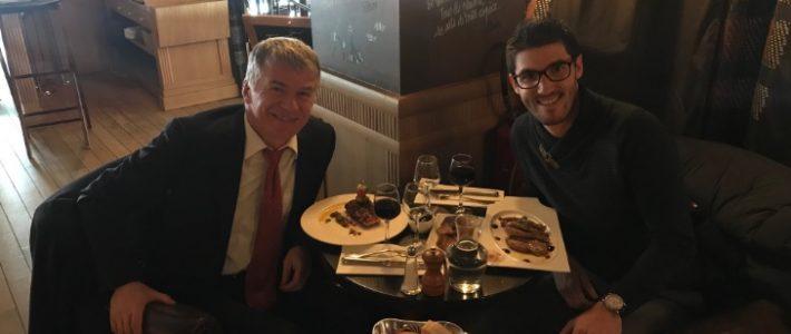 Philippe FOLLIOT déjeune avec son 5000ème abonné Twitter