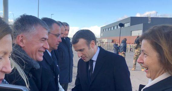 Philippe FOLLIOT accompagne le Président de la République lors des vœux aux armées