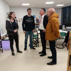 Philippe FOLLIOT visite le Fab Lab de Castres