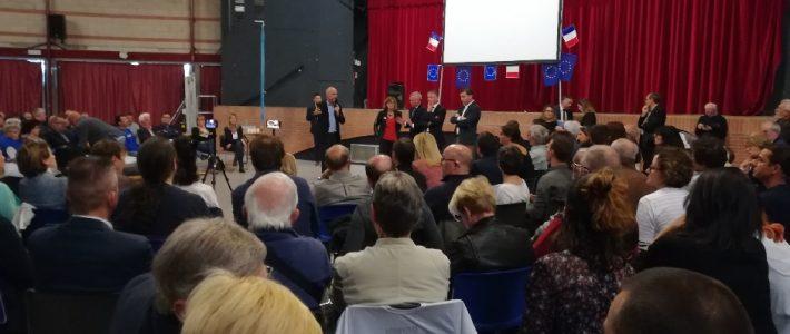 Retour sur la venue à Gaillac de François de RUGY, Ministre d'État chargé de la Transition écologique et solidaire, et Gilles BOYER, candidat Renaissance aux élections européennes