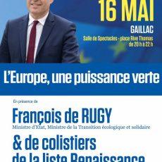 Renaissance: réunion publique le 16 mai à Gaillac