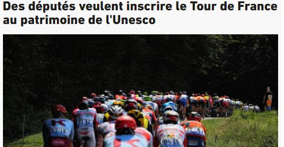 La presse parle de la Tribune sur le Tour de France