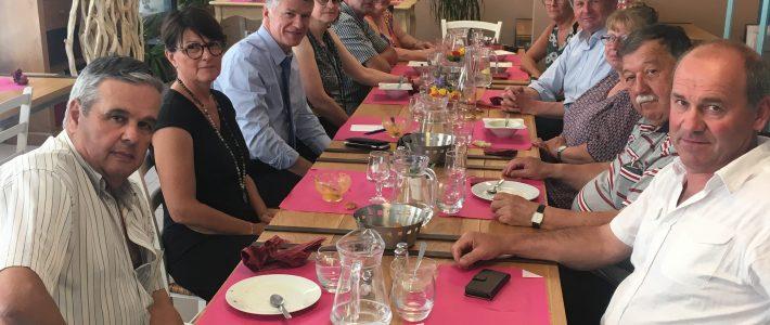 Philippe FOLLIOT et Philippe BONNECARRERE  en visite cantonale dans le secteur de Valence d'Albigeois