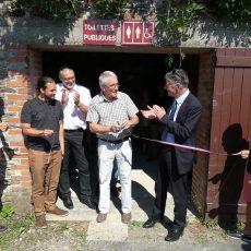 Inauguration de toilettes publiques au Prieuré d'Ambialet