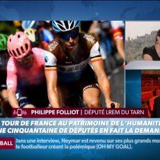 Philippe FOLLIOT défend sa proposition d'inscription du Tour de France au Patrimoine culturel immatériel de l'UNESCO sur les radios et TV françaises