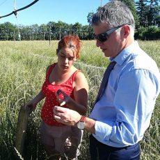Philippe FOLLIOT visite l'élevage d'escargots « La Cagouille Paulinétoise »