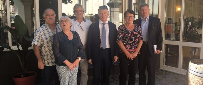 Déjeuner de travail avec les maires de l'ancien canton de Lacaune