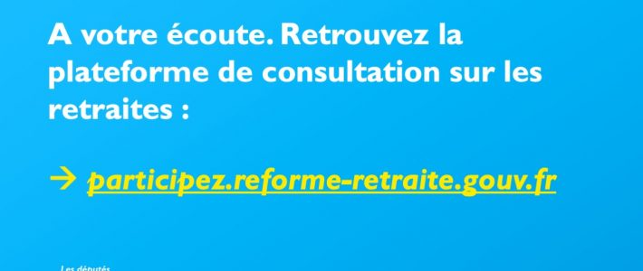 Consultation citoyenne sur les retraites : faites connaitre votre avis !