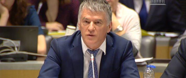 Philippe FOLLIOT orateur du groupe LREM lors d'une table-ronde sur l'avenir de l'Alliance atlantique