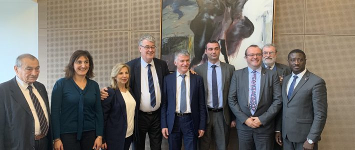 Le Bureau de l'Alliance centriste reçu par Jean-Paul DELEVOYE, Haut-Commissaire aux retraites