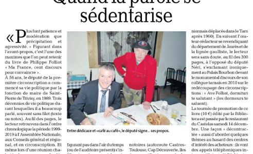 « Ma France – Cent discours pour convaincre » dans la presse