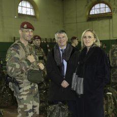 Une délégation de la Commission de la Défense nationale et des forces armées de l'Assemblée nationale visite le 8e RPIMa à Castres