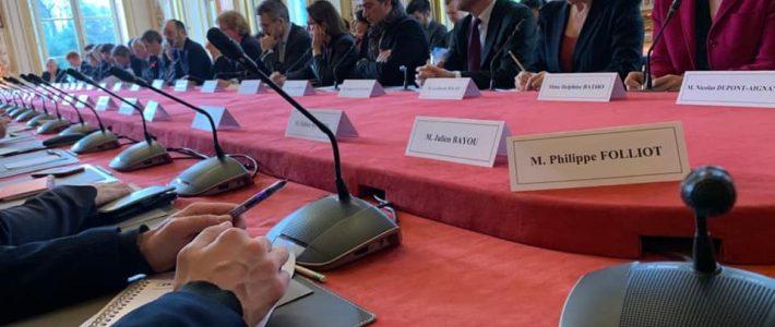 Philippe FOLLIOT se rend à Matignon dans le cadre de la réunion sur le Coronavirus