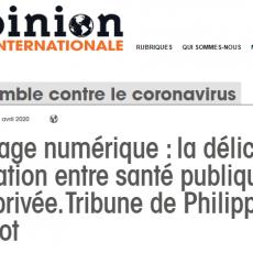 Opinion internationale publie « Pérégrinations autour d'un mot : TRACAGE » de Philippe FOLLIOT