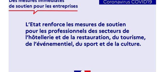 Economie : élargissement des mesures de soutien aux secteurs de la restauration, du tourisme, de l'événementiel, du sport et de la culture