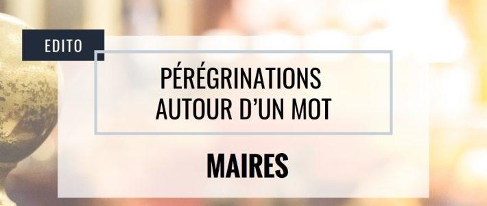 Pérégrinations autour d'un mot : MAIRES
