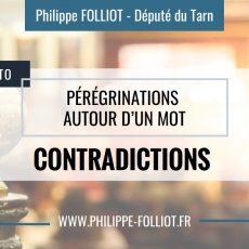 Pérégrinations autour d'un mot : CONTRADICTIONS