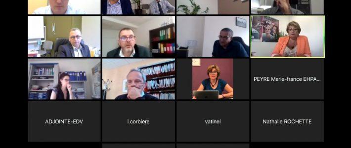 En réunion avec les directeurs d'EHPAD du Tarn sur la future loi Grand âge