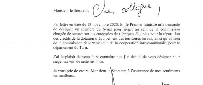 Philippe Folliot, désigné membre du Sénat au sein de la commission statuant sur les catégories de la DETR
