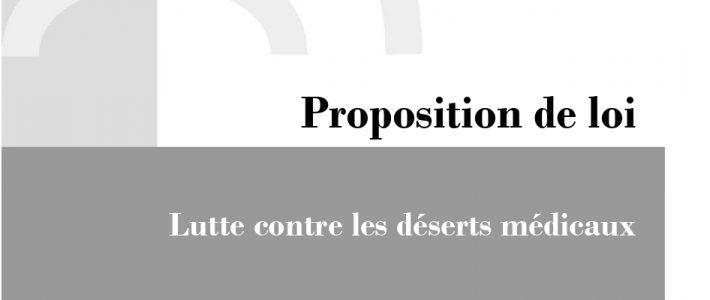 Dépôt de ma proposition de loi visant à lutter contre les déserts médicaux