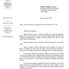 Philippe Folliot et les membres de l'APR demandent le maintien de Rencontres à XV