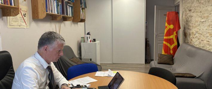 Philippe Folliot préside la réunion de groupe à l'AP OTAN