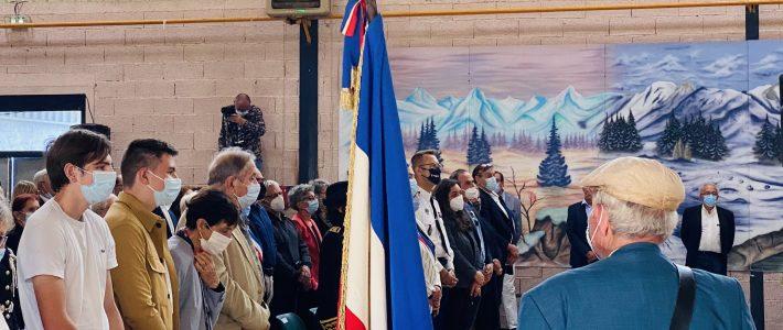 Marie-José Kerboriou-Guiraud assiste à une remise de Médaille de Juste parmi les Nations à titre posthume à Vabre